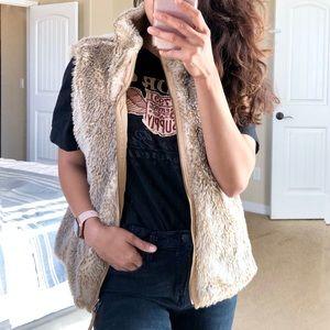 GAP Reversible Faux Fur Sweater Vest